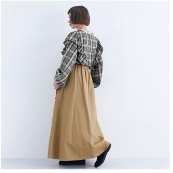[マルイ] 【5色展開】アジャスターベルト付きコットンフレアロングスカート/メルロー(merlot)