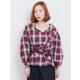 [マルイ] チェックカシュクールシャツ/レディメイド(LADYMADE)