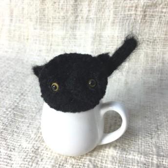ポンポン猫ちゃんヘアゴム 黒