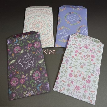 送料無料☆ミニ封筒(ポチ袋)24袋 DPフラワー刺繍モチーフ