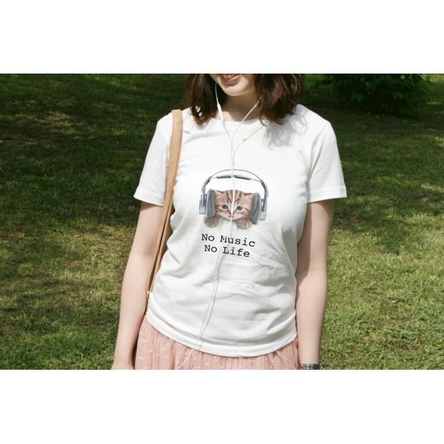 送料無料☆【ドライTシャツ】猫だってNo Music No Life