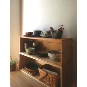 再々入荷しました!【便利な長い木箱。お店のディスプレイ棚やキッチン、おもちゃ収納、DIYにも。】