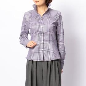 [マルイ]【セール】グレンチェックスタンドカラーシャツ/ナラカミーチェ(NARACAMICIE)