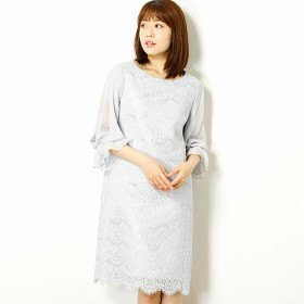 [マルイ] レース裾スカラップ袖付きドレス(結婚式/二次会/謝恩会/パーティー)/エー・アール アザレアローズ(A・R Azalea Rose)