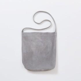 1d70d70bfe59 【送料無料】 レザー ショルダーバッグ グレー M | レディース メンズ 豚革 クラッチバッグ