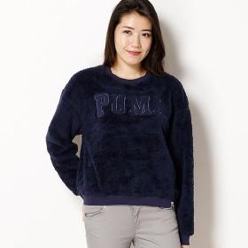 PUMA TEDDY CREW SWEAT カジュアルスウェットシャツ レディース