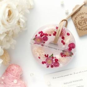 メッセージラベル可能♪アロマサシェ ボタニカル・アクアリング【floral rose】