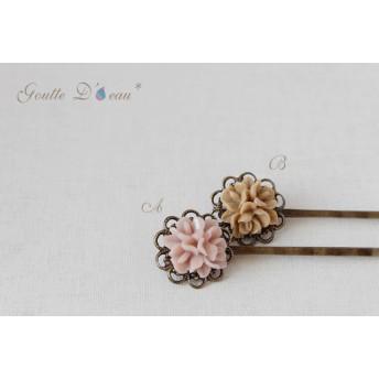 flower cabochon hair-pin