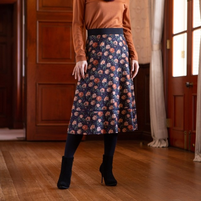 AMACA アマカ DECADENT BLOOMSフレアースカート