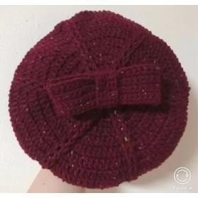 Girl's ツイードベレー帽