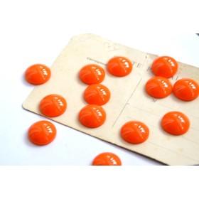 ドーム カボションオレンジ20mm大ぶりオシャレ秋色