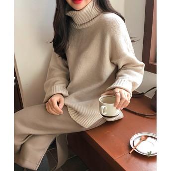 ニット・セーター - NOWiSTYLE MICHYEORA(ミチョラ)ハイネックセーター韓国 韓国ファッション トップス 長袖 ハイネック ベーシック タートルネック
