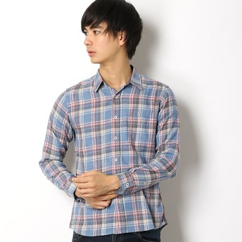 [マルイ]【セール】フェードチェックシャツ/メンズメルローズ(MEN'S MELROSE)