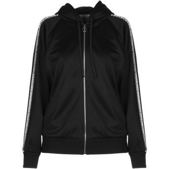《セール開催中》GUCCI レディース スウェットシャツ ブラック XS ポリエステル 55% / コットン 45% / ナイロン / 真鍮/ブラス / ガラス