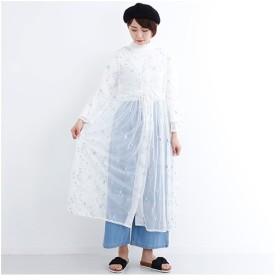 [マルイ]【セール】刺繍チュールロングガウン1202/メルロー(merlot)