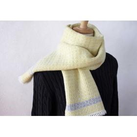 手織りラムウールカシミヤマフラー_013
