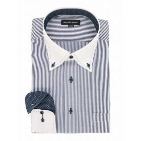 [マルイ]【セール】【大きいサイズ】形態安定ボタンダウンダブルステッチ長袖ビジネスドレスシャツ/グランバック(GRAND-BACK)[大きいサイズの店]