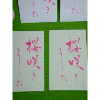 筆ペン 「桜 咲きました」カード8枚入り