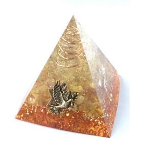 ピラミッド型オルゴナイト☆六芒星と鳩