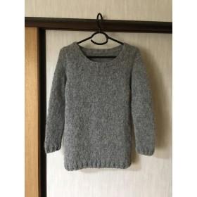 ふわふわ♪ボートネックのセーター(グレー)