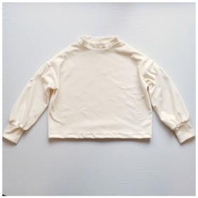 ベロアのバルーンスリーブプルオーバー/オフホワイト