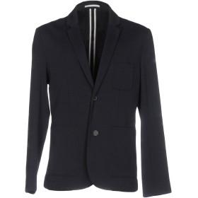 《期間限定セール開催中!》PAOLO PECORA メンズ テーラードジャケット ダークブルー 50 コットン 100%