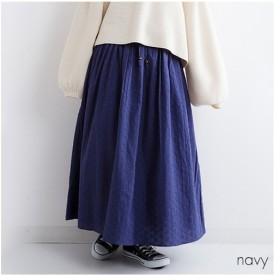 [マルイ]【セール】同色刺繍 ロングギャザースカート/フィリル(fillil)