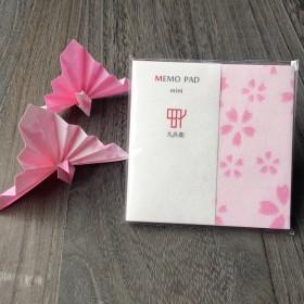久兵衛 MEMO PAD mini 花 ピンク 50枚入 2袋