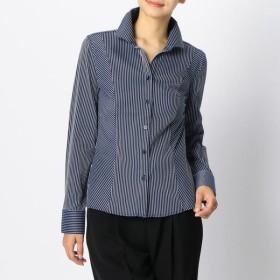 [マルイ]【セール】スーパーストレッチペンシルストライプスタンドカラーシャツ/ナラカミーチェ(NARACAMICIE)