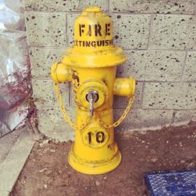 オリジナルハンドメイ消火栓風立水栓