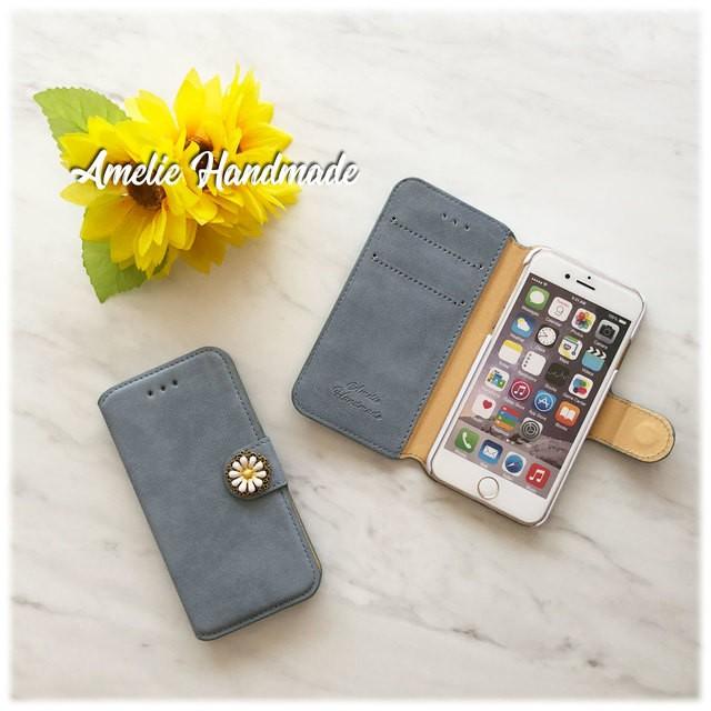 4c78c66df2 iPhone/Xperia】スエード調アイスブルー手帳型ケース 通販 LINEポイント ...