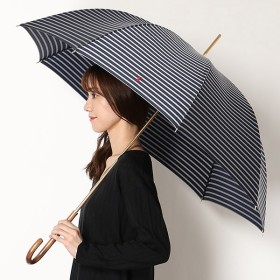[マルイ] 雨傘【手開きタイプ/長傘/ボーダー】Pツイル先染め ボーダー(レディース/婦人)/ポロ ラルフローレン(傘)POLO RALPH LAUREN(umbrella)