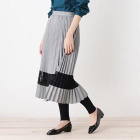 [マルイ]【セール】Lスカート(チェック×レースプリーツスカート)/グローブ(grove)