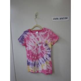 タイダイ染めサークルしぼりのTシャツ レディースSサイズ