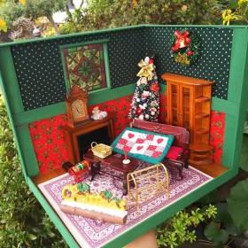 ️ ️ Christmas House ミニチュア ドールハウス ガーデン ガーデニング 部屋 カフェ 家