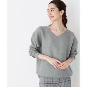 [マルイ]【セール】Lセーター(編柄ミックスVネックニット)/ハッシュアッシュ(レディス)(HusHusH Ladies)