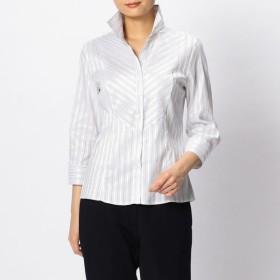 [マルイ]【セール】イタリアン細ストライプ切り替えスタンドカラーシャツ/ナラカミーチェ(NARACAMICIE)