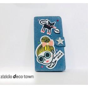 【ziziclo オリジナル】iPhone 手帳型ケース 7/8plus/対応