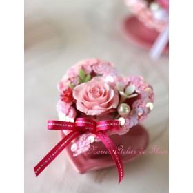 ルシール(大)ピンクスパンコール お花薄いピンク