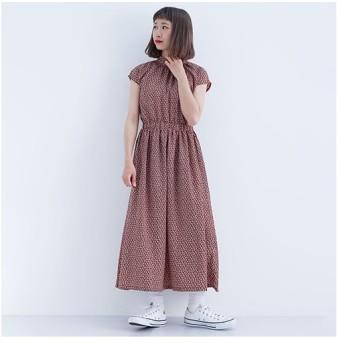 [マルイ]【セール】小花柄ハイネックワンピース741-6527/メルロー(merlot)