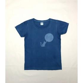 藍染-T 月猫 / over the moon