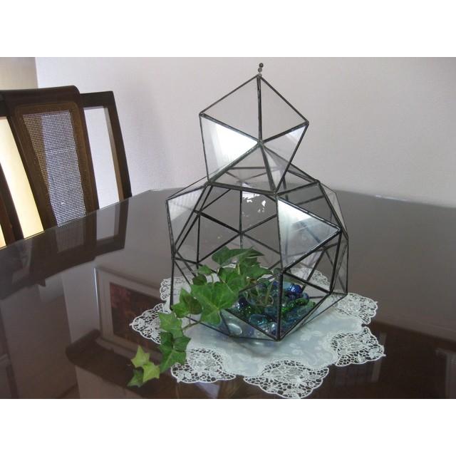 ◆正三角形で出来たテラリウム ◆ステンドグラス