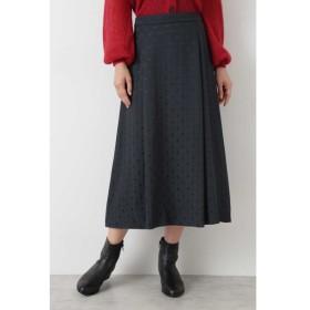 HUMAN WOMAN / |MORE10月号掲載|◆ドットジャガードスカート