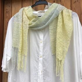 手織りのストール受注生産
