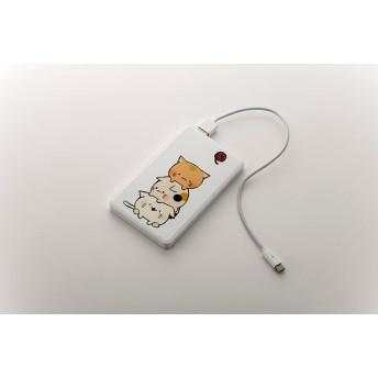 猫のモバイルバッテリー(スマホ等携帯充電池)「積まれ猫」