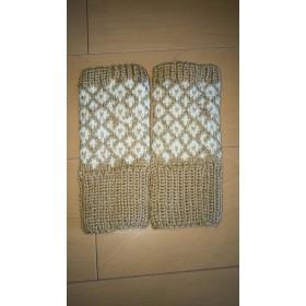 毛糸の手袋 ベージュ