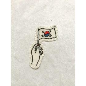 刺繍ワッペンシール National flag 韓国