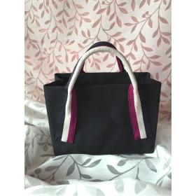 黒色6号帆布/シンプルトートバッグ