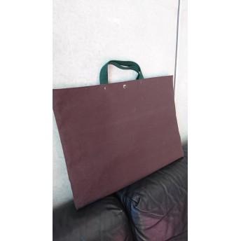 【入学準備応援価格!】防災頭巾カバー (横幅50cm) 茶×緑