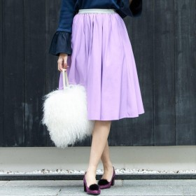 [マルイ]【セール】Newグログランフレアスカート/ビアッジョブルー(Viaggio blu)